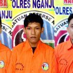 Tiga Karyawan Koperasi Ditangkap Polres Nganjuk Gegara Sabu-Sabu