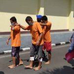 Tiga Spesialis Pencurian Bermodus Pecah Kaca Mobil, Diringkus Polisi Mojokerto