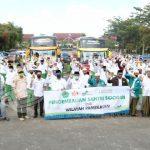 Bupati Pamekasan Baddrut Tamam, Berangkatkan 108 Santri Ponpes Sidogiri