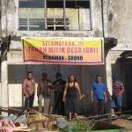 Upaya Selamatkan Aset Desa, Warga Desa Kebaman Banyuwangi Pasang Spanduk