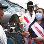 'Emak-Emak' Pedagang Pasar di Blitar Ditunjuk Jadi Duta Masker