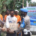 Polsek Kertosono Nganjuk Bedah Rumah Dua Yatim yang Tinggal di Gubuk Reot