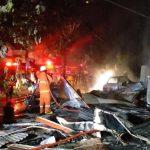Konsleting Listrik, Tiga Ruko di Tulungagung Hangus Terbakar