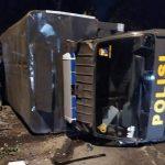Pulang Antar Jenazah, Deretan Mobil Polisi di Jember Kecelakaan Beruntun