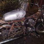 Motor Antik Milik Warga Sidoarjo Hangus Terbakar