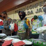 Polres Tanjung Perak Gagalkan Pengiriman Narkoba 6.548 Kilogram dari Malaysia ke Madura