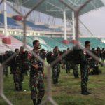 Pulang Tugas dari Papua, Ratusan Tentara Jalani Isolasi di Standion JSG Jember