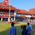 Walikota Blitar Pimpin Upacara Detik-Detik Proklamasi Kemerdekaan RI ke-75
