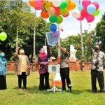 Peluncuran 'Gerakan Mendaftarkan Anak ke PAUD' di Nganjuk Ditandai Pelepasan Balon