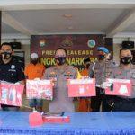 Operasi Tumpas Semeru, Polres Lumajang Bongkar 3 Kasus Sabu dengan 4 Tersangka