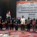 KPU Tetapkan Kelana – Dwi Astuti, Kontestan Pilkada Sidoarjo 2020 Resmi 3 Paslon