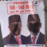 APK Calon Walikota Blitar Petahana Jadi Sasaran Aksi Vandalisme
