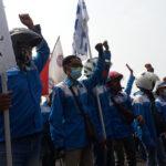 Demo Buruh Tolak UU Ciptaker di Surabaya Juga Tuntut Kenaikan Upah