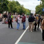 Persiapan Pengamanan Demo Tolak UU Cipta Kerja, Polres Blitar Kota Siagakan Ratusan Angota