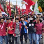 Aksi Tolak Omnibuslaw di Jember, 2.000 Mahasiswa Bergerak Dari Double Way Unej