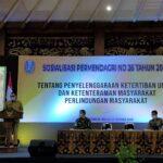 Pjs Bupati Blitar Sosialisasi Permendagri 26 Tahun 2020 Untuk Satpol PP se-Jatim