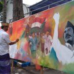 HSN 2020, Santri dan Seniman di Jombang Lukis 'Resolusi Jihad' Berukuran Jumbo