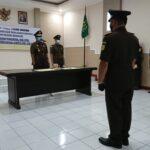Serah Terima Jaksa di Nganjuk Patuhi Protokol Kesehatan