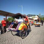 Dukung Wisata Kota Madiun, Becak Dicat Warna-Warni dan Terapkan Prokes