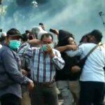 Demo Lanjutan Cabut UU Ciptaker di Banyuwangi Juga Ricuh