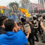 Demo UU Ciptaker di Situbondo Ricuh, 3 Pendemo Bawa Sajam Diamankan
