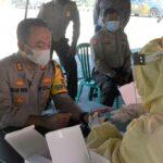 Cegah Penyebaran Covid-19, Ratusan Anggota Polres Situbondo Jalani Rapid Test
