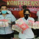 Edarkan Uang Palsu Puluhan Juta, Pria di Mojokerto Ditangkap