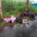 Diduga Terjatuh Akibat Kaget Ada Pohon Tumbang, Pemotor di Tulungagung Tewas