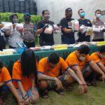 Polisi Surabaya Bekuk 8 Budak Sabu Jaringan Madura, 8,8 Kg Sabu Disita