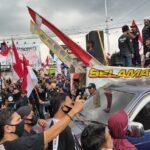 Giliran Massa Buruh di Jember Demo Tuntut Pencabutan UU Ciptaker