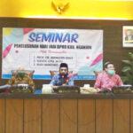 Gelar Seminar Penelusuran Hari Jadi, DPRD Nganjuk Terapkan Prokes