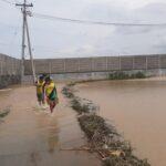 Tanggul Sungai Jetak Mojokerto Jebol, 8 Hektar Lahan Persawahan Terendam