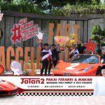 Cabup Jember Ini, Kampanye Mengajak Pendukungnya Keliling Naik Ferrari