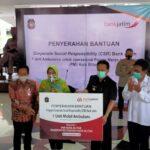 Optimalkan Kinerja, PMI Kota Blitar Dibantu Ambulance Program CSR Bank Jatim