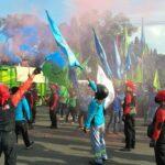 Ribuan Buruh Demo, Akses Jalan Depan Pemkab Gresik Tertutup