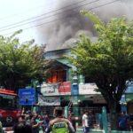 Kebakaran Hebat Melanda Pasar Tradisional Larangan Sidoarjo