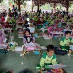 Ratusan Anak Ikuti Lomba Menggambar di Pamekasan, Prokes Tetap Diterapkan