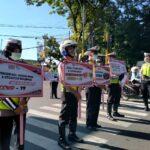Operasi Zebra Semeru 2020, Satlantas Polres Pamekasan Kampanye Prokes Ribuan Kali