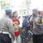Polsek Ngawi Kota Blusukan ke Pasar Legi Sosialisasikan 3M