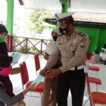 Polantas Nganjuk Keliling Kecamatan, Sosialisasi Prokes dan Keselamatan Berkendara