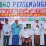 Resmikan Posko Pemenangan di Puger, KH Maulana Syuhada : Ulama se-Jember Dukung H Hendi-Gus Firjaun
