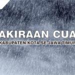 Prakiraan Cuaca Jatim 19 November 2020: Hujan Angin di Sejumlah Wilayah pada Siang dan Sore