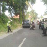 Motor Berboncengan 3 Tertabrak Pikap di Glagah Banyuwangi, Satu Tewas