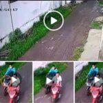 Pencurian Sepeda Motor di Tempat Kos Mojokerto Terekam CCTV