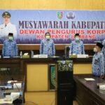 Buka Muskab Korpri, Wabup Sumrambah Ingatkan Soliditas Korpri Jombang