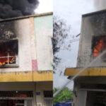 Gudang Helm di Pandugo Surabaya Terbakar