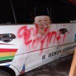 Mobil Cawabup di Jember Jadi Korban Vandalisme