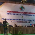 Pjs Walikota Blitar Buka Musda Dekopinda Kota Blitar Tahun 2020