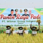 Panen Raya Lahan Demplot Pemkab Mojokerto dengan PT Wilmar Group Indonesia di Kecamatan Gondang