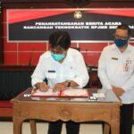 Pemkot Blitar Lakukan Penandatanganan Berita Acara Rencana Teknokratik RPJMD 2021-2024